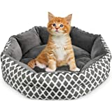 JOYO Cat Bed, 20inch Pet Bed Machine Washable for Cats or Small Dogs Double Sided Cushions Calming Indoor Cushion Bed with No