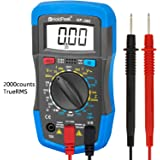 HOLDPEAK 36C Manual-Ranging Digital Multimeter for Measuring DC AC Voltage, Current, Resistance, Capacitance, Diode, Transistor and hfE of 2000 count (Blue)