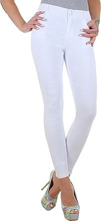 8916111b20f4b4 BD High Waist Damen Super Stretch Hose Jeggings Röhrenhose in schwarz,  weiß, blau,