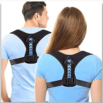 Details about  /Adjustable Clavicle Posture Corrector Brace Shoulder Lumbar Support Belt