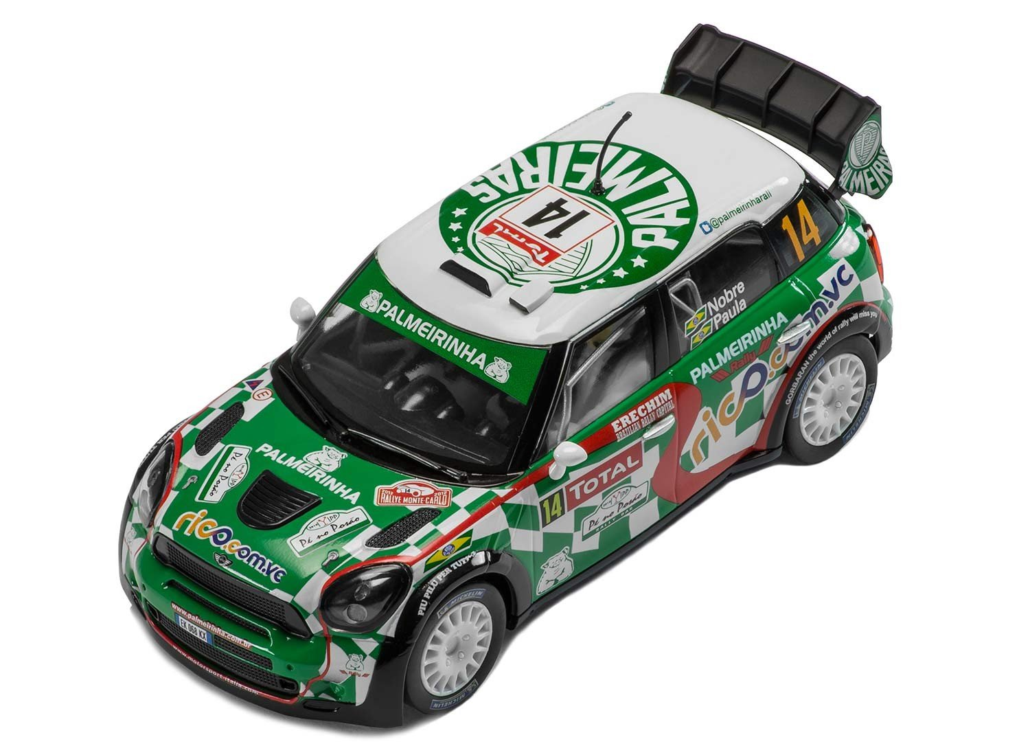Scalextric C3523 MINI Countryman WRC Rallye Monte Carlo Slot Car (1:32 Scale)