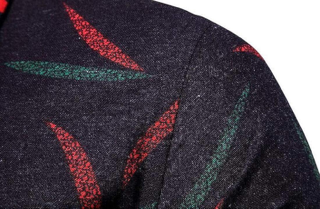 Rrive Men Flower Printing Long Sleeve Casual Shirts Button Up Slim Shirt Top