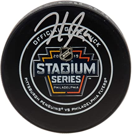 Jake Guentzel Pittsburgh Penguins Autographed 2019 Stadium Series Official  Game Puck - Fanatics Authentic Certified 9e0464cb6