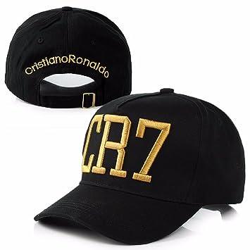 General Cristiano Ronaldo CR7 Snapback Baseball Cap Black with Yellow Logo 1d1ab28cd1f
