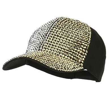 696f0fbcce5 SS/Hat Multi Colored Rhinestone Baseball Cap - Black OSFM at Amazon ...