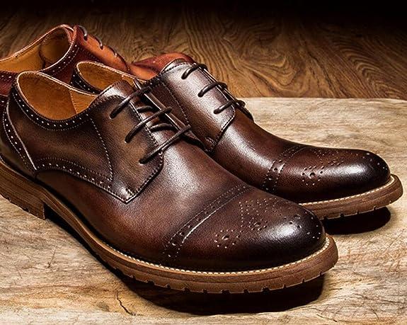 c3e88bb63f5abf GTYMFH Herbst Herrenschuhe Schnürschuhe Für Herren Atmungsaktiv Lederschuhe   Amazon.de  Schuhe   Handtaschen