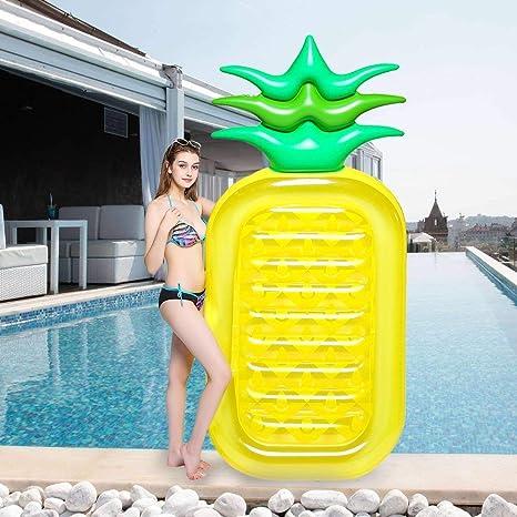 ZCZUOX Piña Hinchable colchonetas Piscina Inflable Flotador Gigante de Piña (180X90CM)