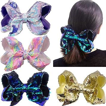 Girls Headbands Baby Teens Toddler Large Mermaid Glitter Hair Bow