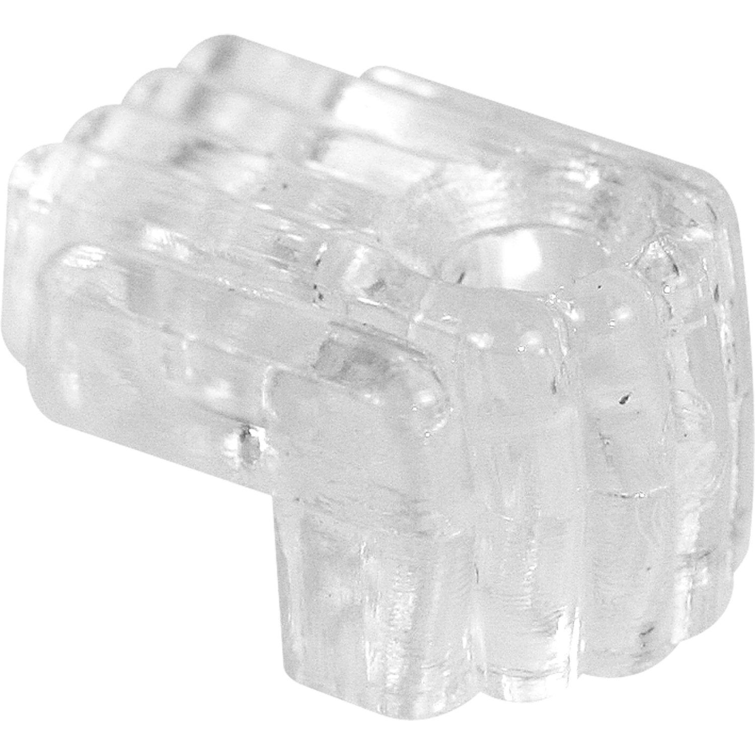 Prime-Line MP9003 Mirror Clip, 1/4 in. Offset, Plastic, Clear, Includes Installation Fasteners, Pack of 25