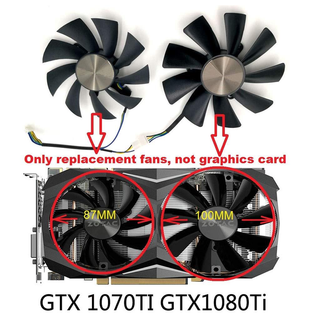 GA92S2H GAA8S2U Replacement Graphics Card Cooling Fans for ZOTAC GTX1060 GTX1070Ti GTX1080Ti 2pcs//Set