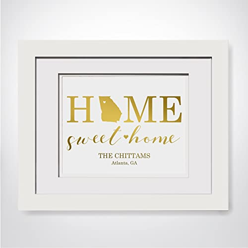 Amazon Com Home Sweet Home Our First Home Gift Custom Last Name