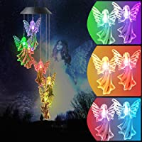 The Angel Solar Wind Chimes Light Outdoor Gardening Gifts for Mom , Unique Birthday Gifts for Women, Valentine Gifts for…