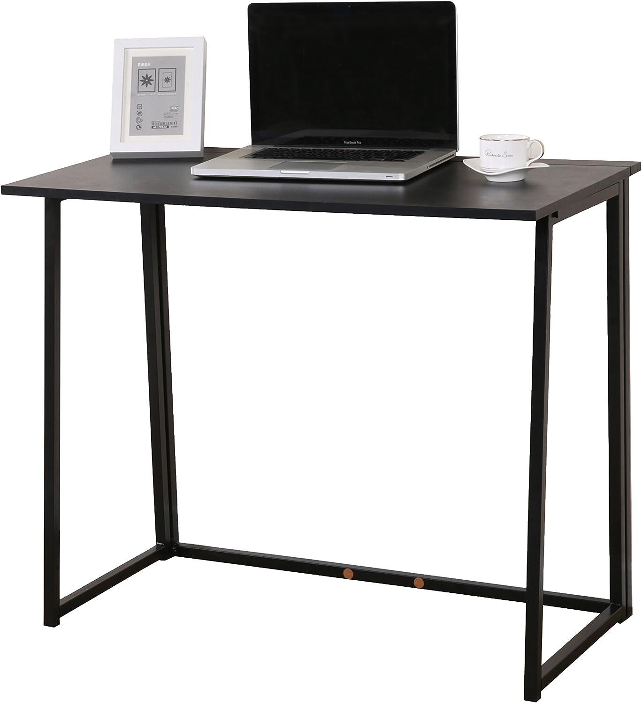 Cherry Tree Furniture Compact Foldable Computer Desk Laptop Desktop Table...