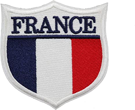 Patch flag coat of arms shield emblem country embroidered badge nice france