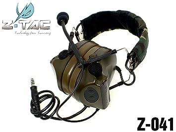 c4df8c1c932 AIRSOFT Z tactical ZSordin Headset MIC BOOM RADIO PELTOR COMTAC 2 WOODLAND  @ HELMET WORLD