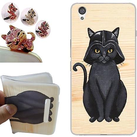OnePlus X funda - CatStyle OnePlus X Carcasa,Suave TPU protectora de Silicona de Gel Funda Tapa Case Cover para OnePlus X (Sombrero negro gato) + 1 x ...
