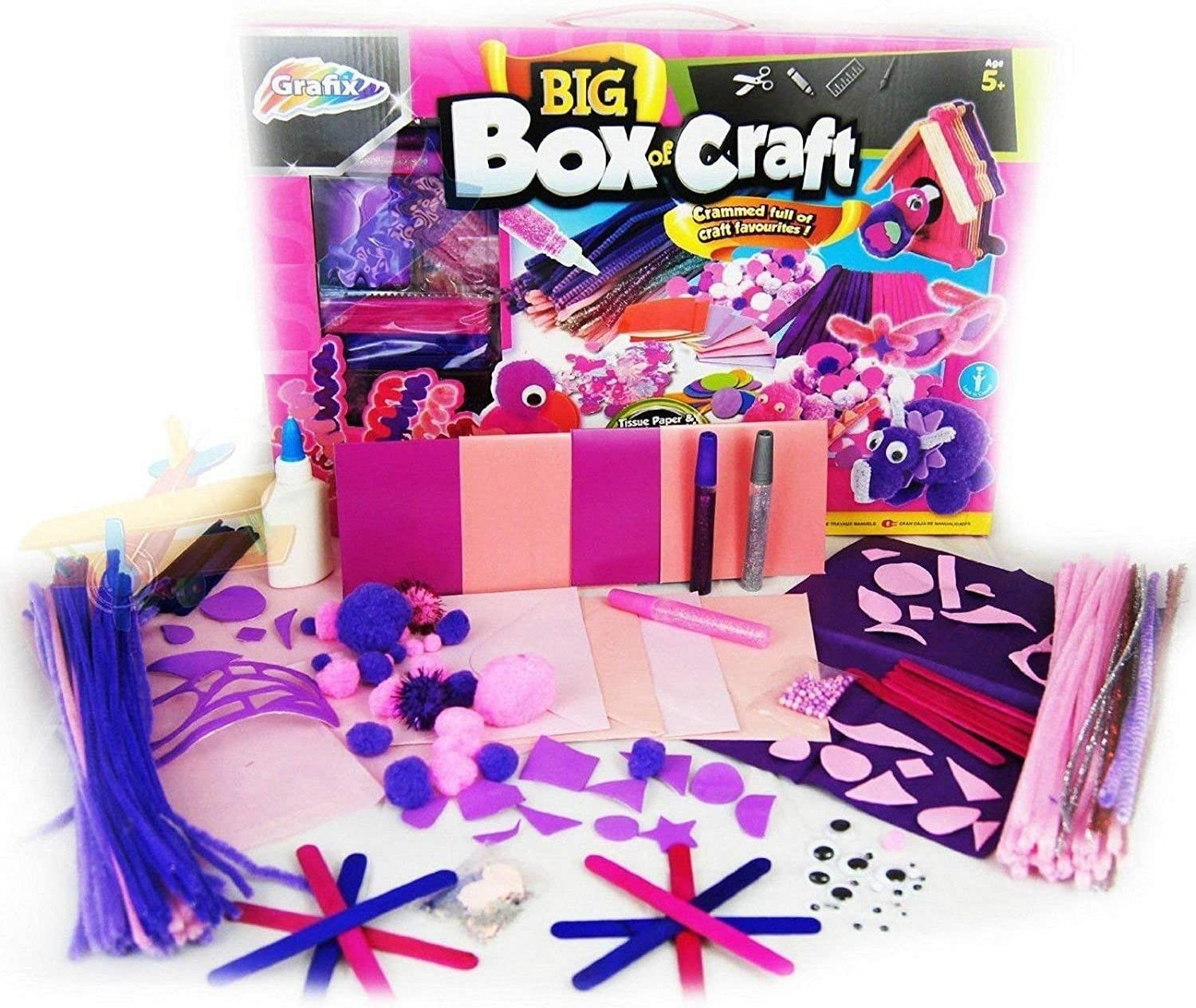Children Kids Grafix Gigantic Craft Box Set Over 300 pcs Arts Creative Gift