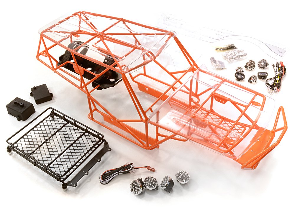 Integy RC Model Hop-ups C26524arancia Realistic Scale VFX2.2 Roll Cage for 1 10 Axial Wraith All Terrain Rock Racer
