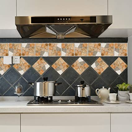 10 Pcs Remove Kitchen Ceramic Tile Stickers Decals Home Decoration Pvc Diy Decor Decals Stickers Vinyl Art
