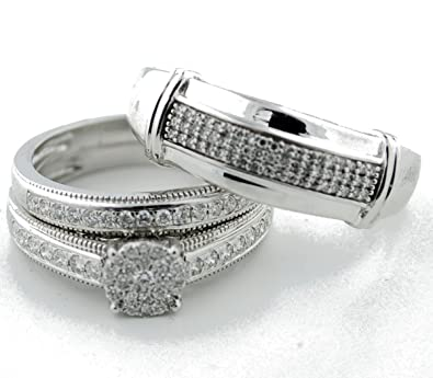 Amazon Com Midwest Jewellery White Gold And Diamond Wedding Ring