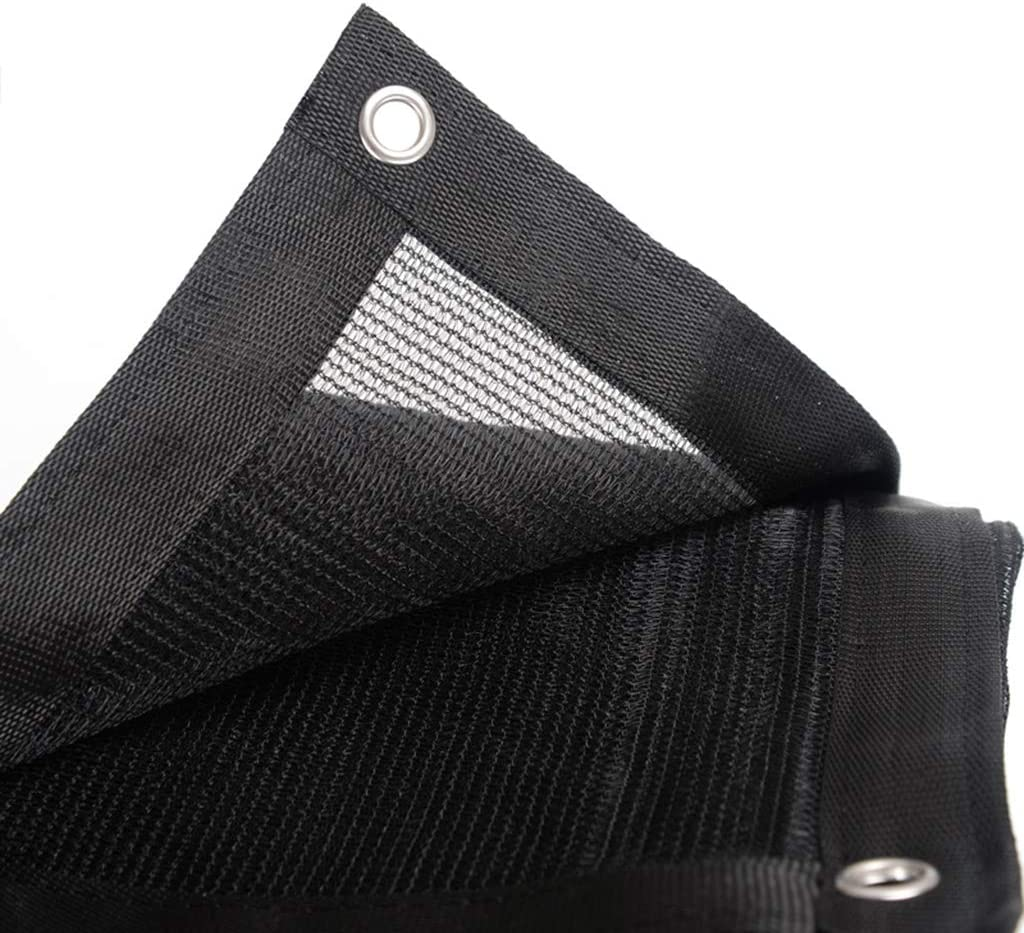 GXH- 黒高強度抵抗釣り糸素材75%日陰ネット、屋外ガーデン家具ダストカバー、耐久性通気性日焼け止め