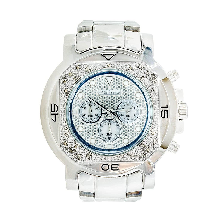Jojino Monaco mj-1224. 59 -10 mm rund. Herren Diamant Uhr. (weiß)