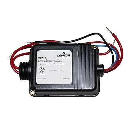 Leviton oda00 Sensor de ocupación add-a-relay Power Pack fluorescente lastre 24 VDC
