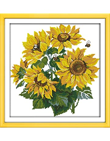 049e3a484 CaptainCrafts New Cross Stitch Kits Patterns Embroidery Kit - Sunflower  (Stamped)