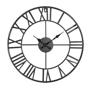 Horloge Pendule Murale En Métal Style Vintage Diamètre 40 Cm