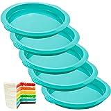 Webake Layer Cake Pans Set, 6 Inch Round Rainbow Cake Baking Pans, Silicone Cake Mold for Jumbo Whoopie Pie Cake Vegetable Pa