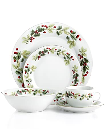 Amazon.com | Gibson Dinnerware, Holiday Classic 20 Piece Set ...