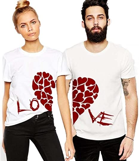 Women White Tee Love Hands Women//Fashion Print Brand New