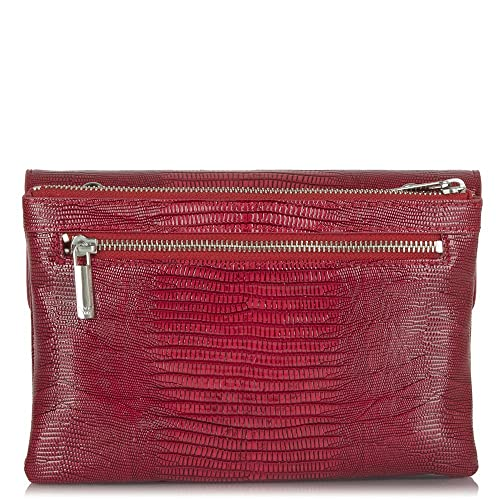 5eaa0b11c600 Armani Jeans Red Serena Reptile Clutch Bag Red Reptile  Amazon.co.uk  Shoes    Bags