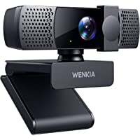 2021 WENKIA 1080p Webcam with Dual Stereo Microphones & Privacy Cover, HD USB Web Computer Camera with Auto Light…
