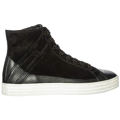 1fe7993bcae45 Hogan Rebel Scarpe Sneakers Alte Uomo in camoscio Nuove r141 Nero EU 44  HXM141094951OTB999  Amazon.it  Scarpe e borse