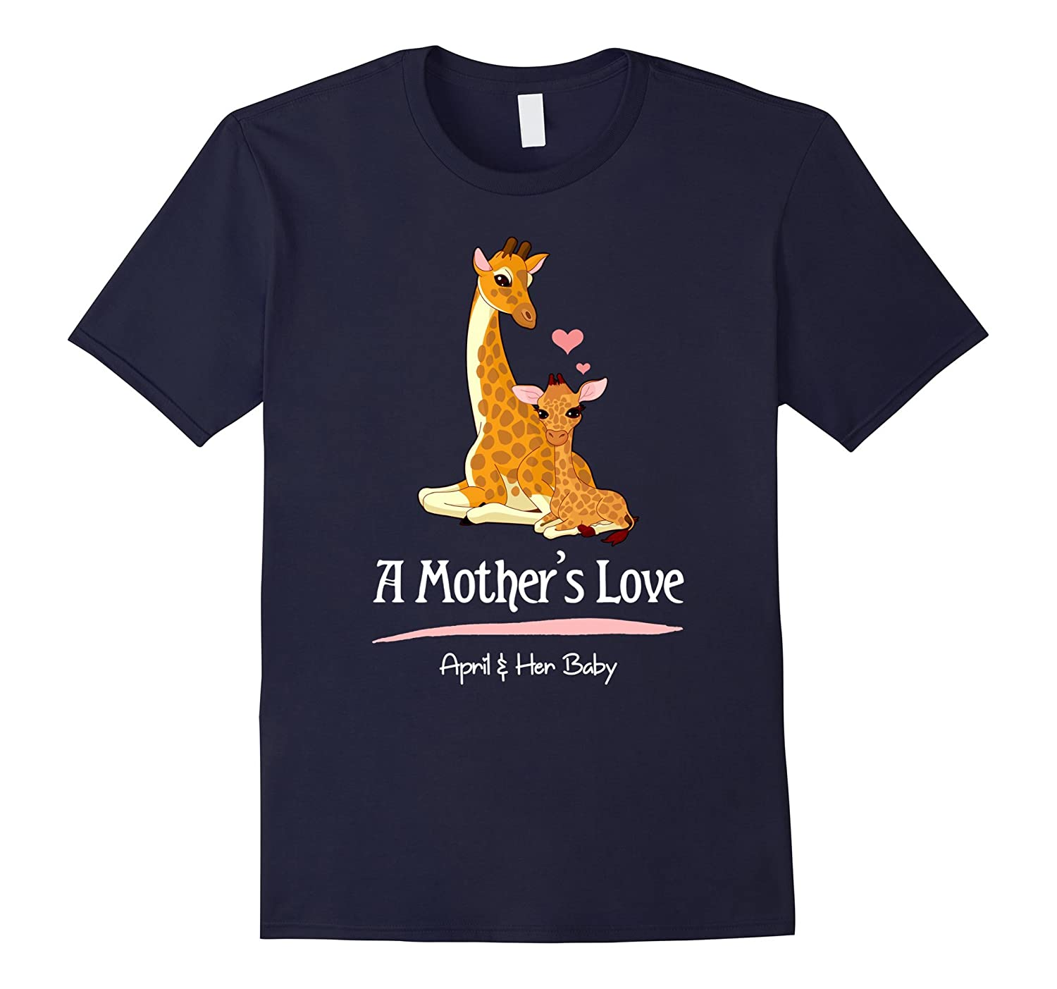 A Mothers Love April the Giraffe and her Baby T-Shirt-CD