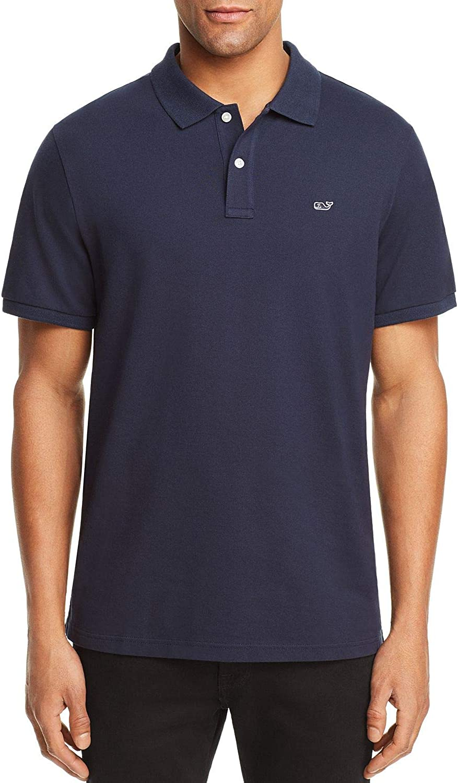 Medium, Vineyard Navy Vineyard Vines Mens Classic Fit Short Sleeve Stretch Polos