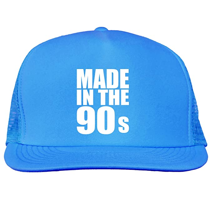 a2dae9dbdce Made in the 90s Bright neon truckers mesh snap back hat in Neon Blue - One