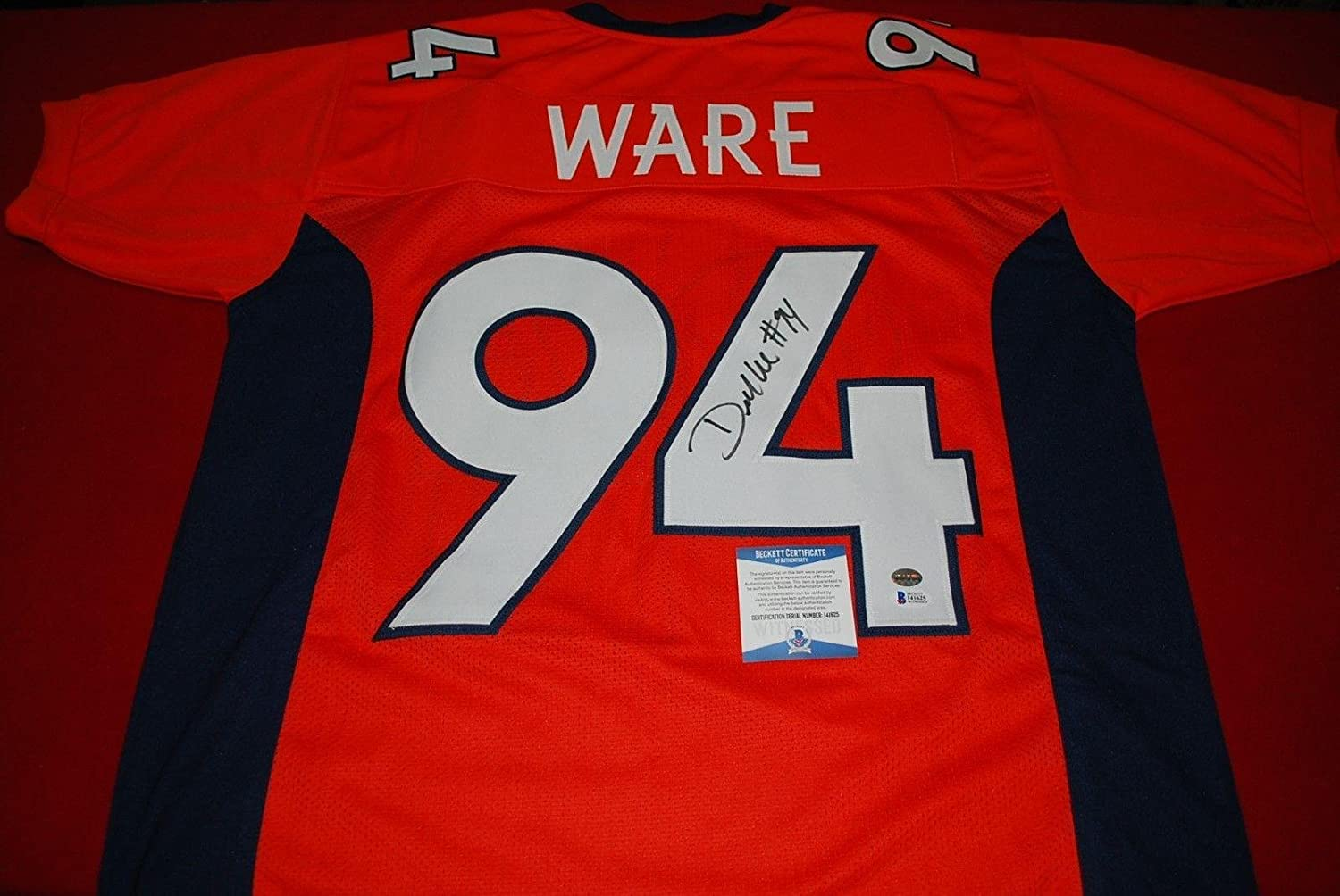 half off a2f9c a1558 hot sale 2017 Signed DeMarcus Ware Jersey - custom becket ...