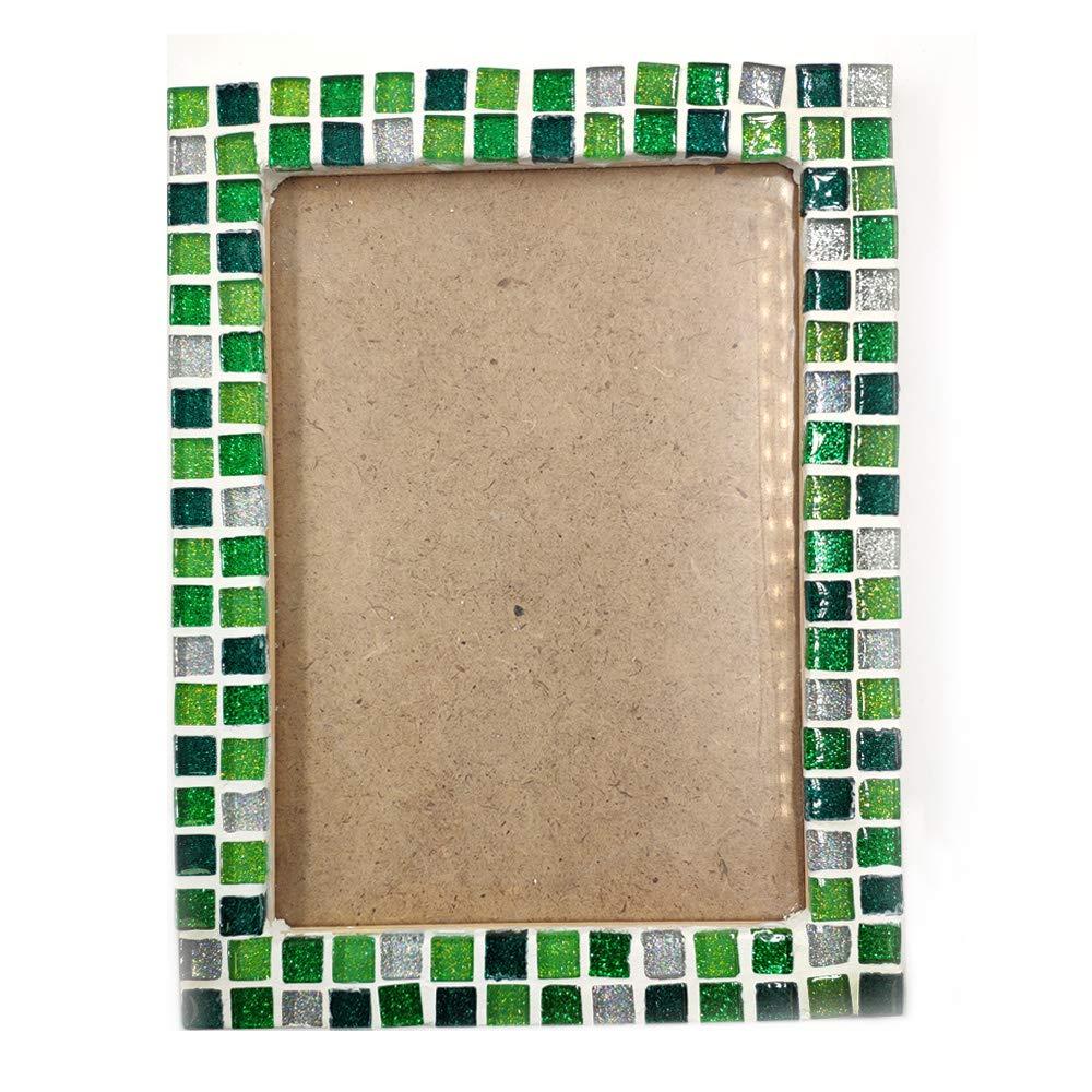 Blue, 11oz Mosaic Tiles for Crafts Blue Assorted Color Glass Glitter Mosaic Supplies Pieces Bulk Assorted Shape Triangle Diamond by Mosaic Joy