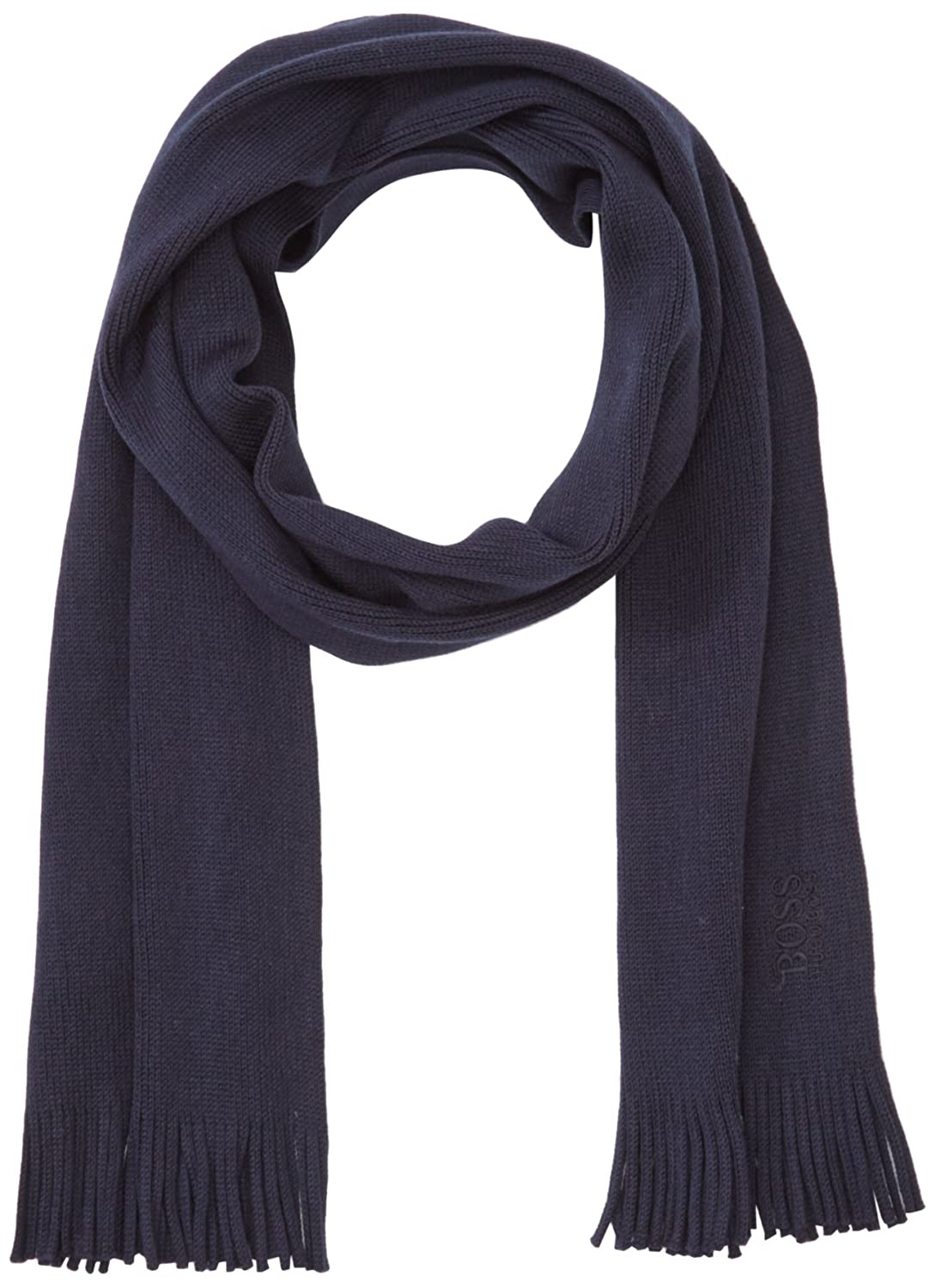 BOSS Men's Scarf Blue (Navy 410) One Size BOSS Green 50322466