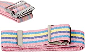 AsaTechmed Pastel Colors Walking Patient Transfer Gait Belt with Metal Buckle and Belt Loop Holder - Mobility Aid for Caregivers, Nurses, Home Health Aides