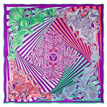 Wagyunfei Las Mujeres Primavera Y Verano Protector Solar Bufanda De Seda Junto Al Mar Turismo Playa Toalla (Color : Púrpura): Amazon.es: Hogar