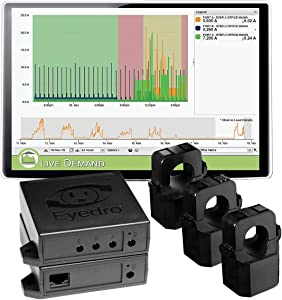 Eyedro Business 3-Phase Energy Monitor (Polyphase) - View your High Resolution Energy Usage in a Variety of ways via My.Eyedro.com (No Fee) - Energy Costs in Real Time - EBWEM1-LV (Wireless Mesh)