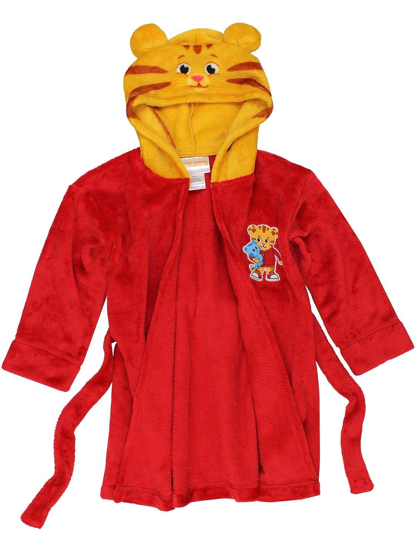 Daniel Tiger Toddler Boys Girls Hooded Plush Fleece Bathrobe Robe with Ears