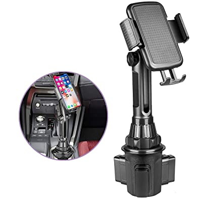 Car Cup Holder Phone Mount,Universal Adjustable Cell Phone Cup Holder Cradle Car Mount with Flexible Long Neck for iPhone 11 Pro/XR/XS Max/X/8/7 Plus/6s/Samsung S10 /Note 9/S8 Plus/S7 Edge