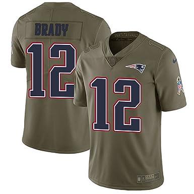 NIKE Men's No.12 Tom Brady 2017 Salute to Service Olive Sport Jersey - New  England Patriots