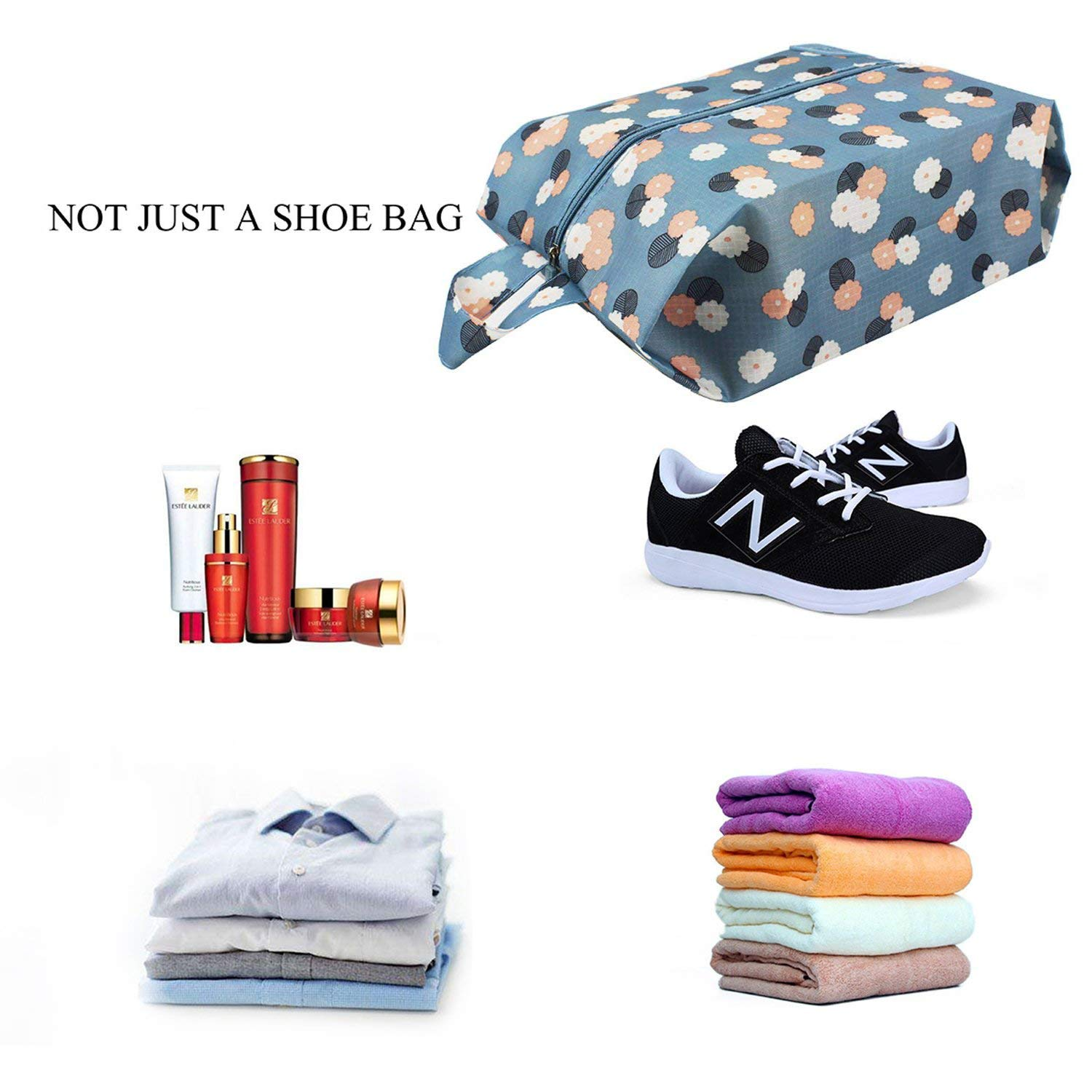 fdcc1a04ecb4 Amazon.com: Xelparuc 5-Pack Portable Travel Shoe Bags Dust-proof ...