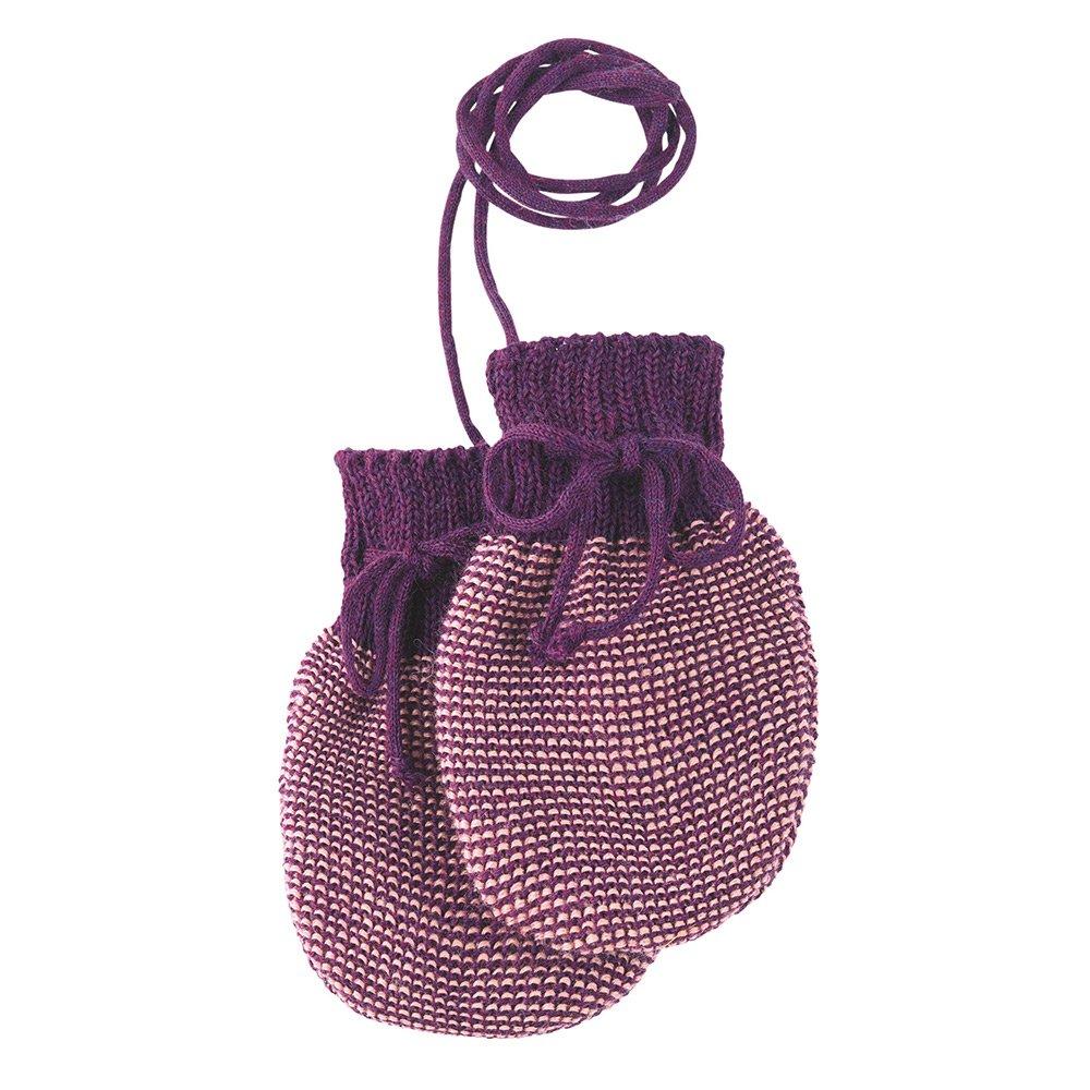 Gr disana Baby Strick-Handschuhe Bio-Merinoschurwolle Anthrazit-Grau