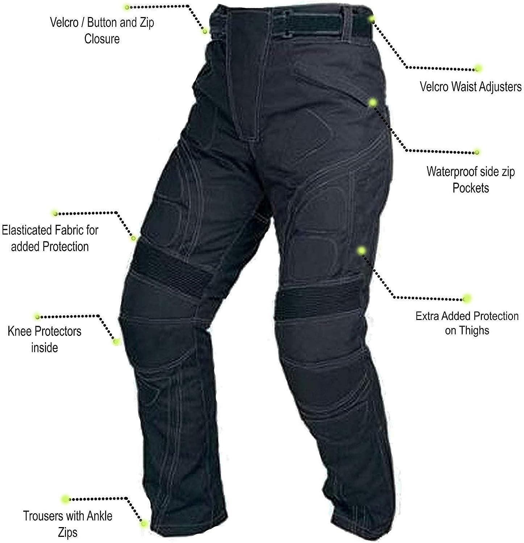 Juicy Trendz Diseñador Hombres Motocicleta Armadura Negro Textil ...